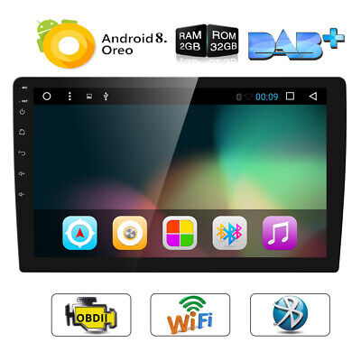 """10""""Android 8.1 Double 2DIN In dash Car stereo Radio Player GPS Navigation WiFi w"""