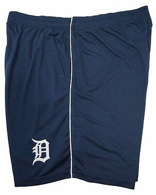 Detroit Tigers Majestic Men's Blue Athletic Mesh Shorts, MLB Big & Tall nwt