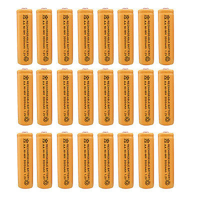 24 x AA 2A 3000 (Actual 300mAh) 1.2V Ni-MH NiMH Rechargeable Battery Cell Orange