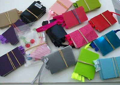Job Lot of over 150 x John Lewis Card and Riibbon Gift Tags 7cm x 5cm Mix Colour