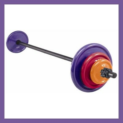 ONE Active by Michelle Bridges 18kg Body Pump Aerobic Bar Bell + Weight Set