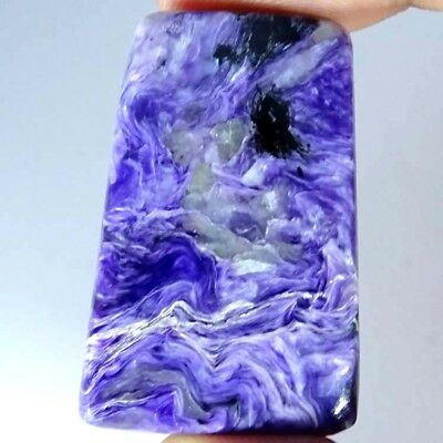 73.00Cts 100% Natural Supreme Russian Blue Charoite Fancy Cabochon A+ Gemstone