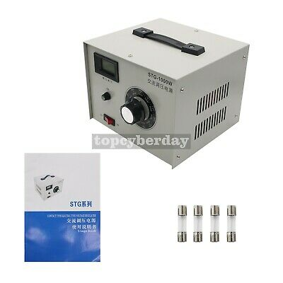 STG-1000W 220V AC Variac Autotransformer Voltage Regulator Powerstat 0-300V