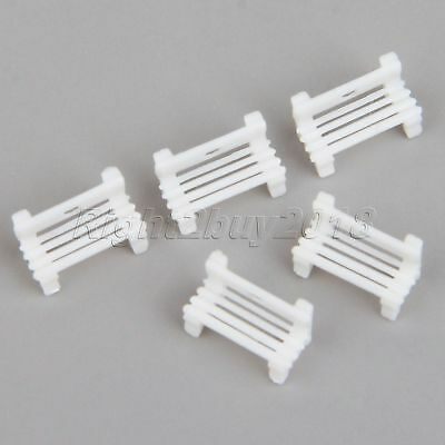 20Pcs 1:200 Scale Plastic Garden Bench Square Chair Model Train Railway Layout