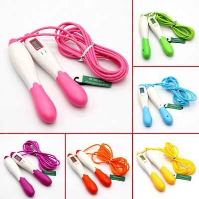 Skipping Rope Jumping Exercise Fitness Adjustable LCD Calorie Counter AU