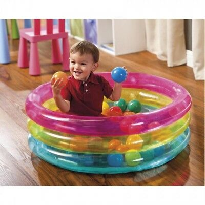 Classic Baby 3 Ring Ball Pit or Paddling Pool 86cm x 25cm from Intex Inflatables