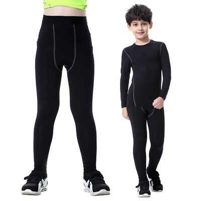 Quick-drying Kids Compression Base Layer Skin Thermal Long/Shorts Pants Trousers