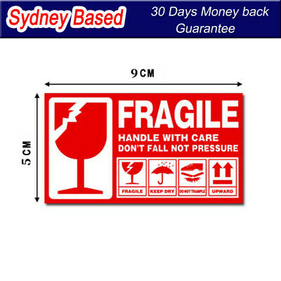 Fragile Handle With Care This Side Up Label 90x50mm Sticker 30 60 90 120 180 240