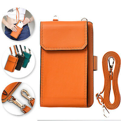 8884e18a1dbe UNIVERSAL CROSSBODY STRAP Cell Phone Bag PU Leather Carrying Case Wallet  Card