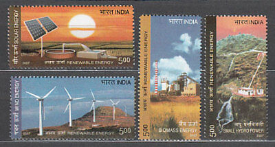 India - Correo Yvert 2005/8 ** Mnh  Energias renovables