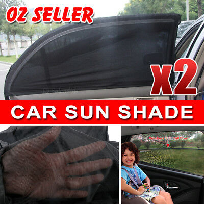 2x Universal Sun Shades Rear Side Seat Car Window Socks Baby Kids UV Protect AU