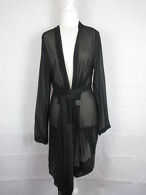 Company Of Strangers Sheer Dressing Gown, Silk & Leather, Size 12