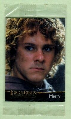 Lord of the Rings - Fellowship of the Rings Topps trading card Merry C6 sealed.