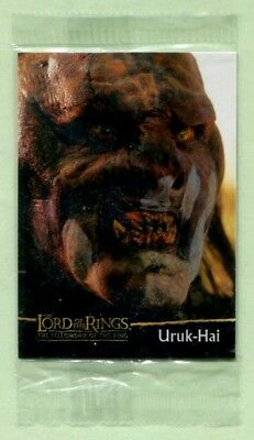 Lord of the Rings - Fellowship of Rings Topps trading card Uruk-Hai C18 sealed.