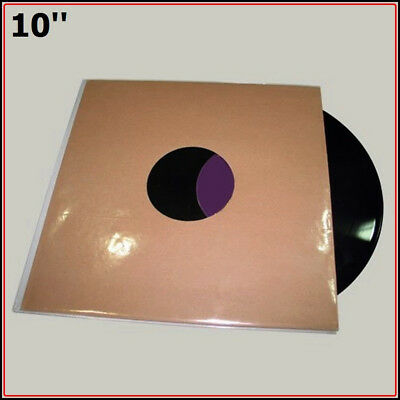 "Outer vinyl record plastic sleeves cover 10 inch"" LP (50 pieces 2mil Bopp)"