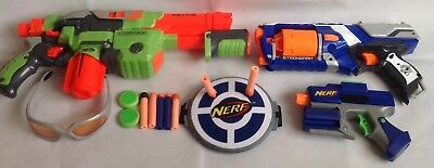 Nerf Bundle - Vortex Praxis, N-Strike Elite Strongarm plus Small Gun & Darts