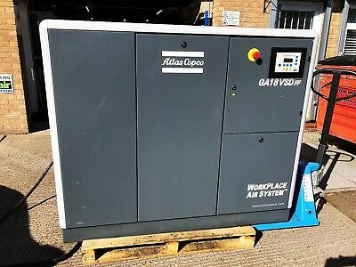Atlas Copco GA18 VSD FF Air Compressor Variable Speed Drive with Fridge Dryer
