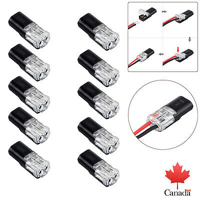 10X Wire Cable Snap Plug In Connector Terminal Connections Joiners Car AUTO 12V
