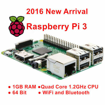 Raspberry Pi 3 Model B 1GB Quad-Core Board 1.2GHz CPU Wifi Bluetooth Starter Kit