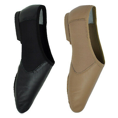 Starlite Fanatic Easy Slip On Leather Jazz Shoes - Suede Sole