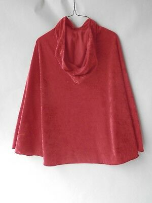 Childs Red Cape Little Red Riding Hood Dress Up Fantasy Make Believe