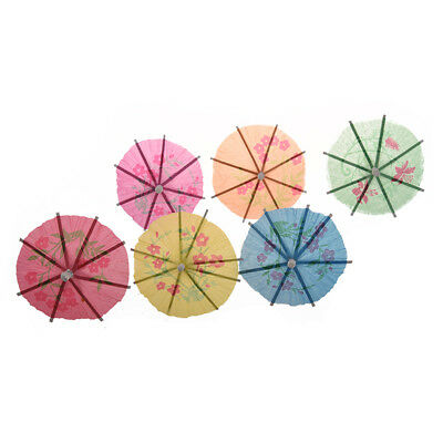 72 Pieces Colorful Mixed Paper Cocktail Drink Umbrellas Parasols Picks for I0O8