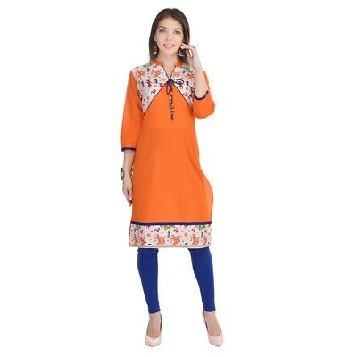 Bollywood Ethenic Designer Cotton Indian Party Wear Kurti Kurta For Womens 2523