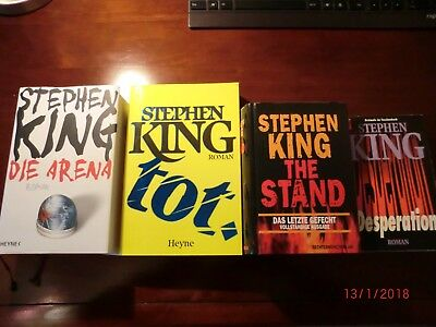 Stephen King 4 Bücher Die Arena, Tot, The Stand, Desperation