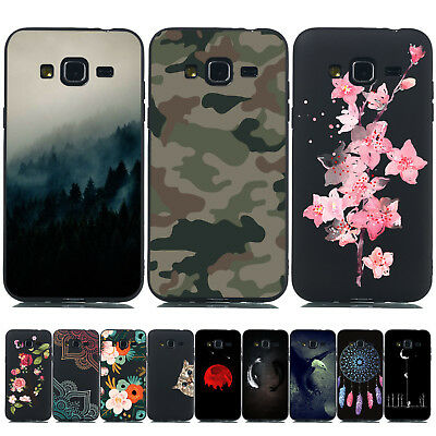 For Samsung Galaxy J3 J5 2016 Slim Soft TPU Silicone Painted Back Case Cover