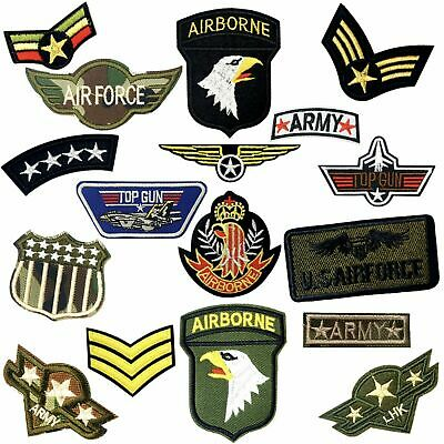 Army Miltary Themed Embroidered Logo Patch Badge Iron On / Sew On Fancy Dress