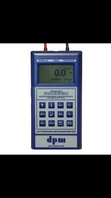 DPM TT Series RS232 Micromanometer inc. carry case, battery & silicone tubing