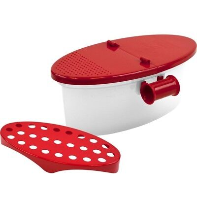 Microwave Pasta Boat Cooker Spaghetti Cooking Box Vegetable Kitchen Gadget F8P5