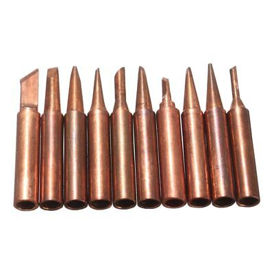 10 Pure Copper Soldering Solder Iron Tip For 900M Series 852D Iron Hot Air U2L3