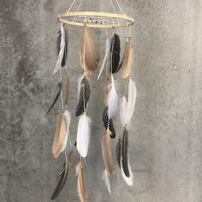 Baby Nursery Dreamcatcher Mobile Feather Hanging - Natural