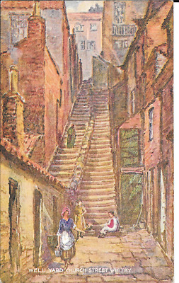 Postcard of Well Yard, Whitby.Yorkshire