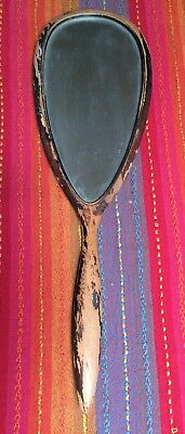 Antique Wood Hand Held Oblong Mirror. 18 X 5 Aprox.