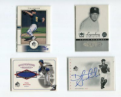 2001 SP echt Tim Hudson kaufen back Auto #/291 Oakland Athletik Baseball