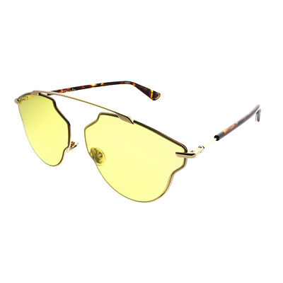 Dior SoReal Pop 000 HO Gold Havan Yellow Metal Aviator Sunglasses 59mm