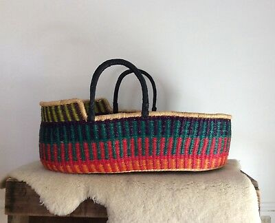 Artisan African Moses Basket Ghana (mattress included)
