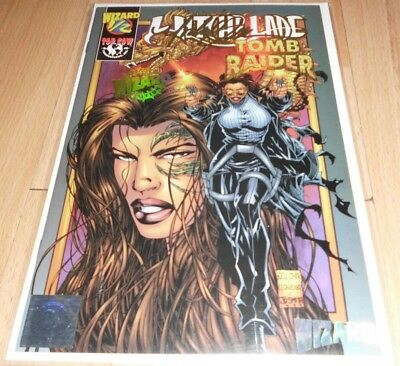Witchblade Tomb Raider (1998) Wizard 1/2 #1C Signed...Pub May 1999 by Image