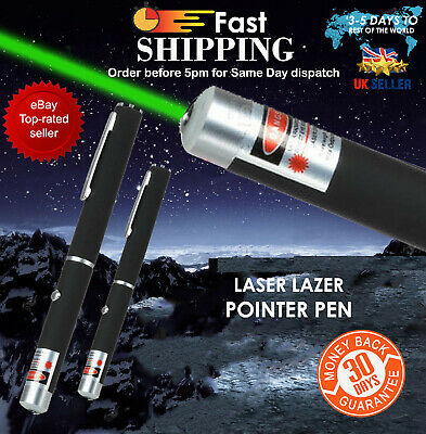 1M W POWERFUL GREEN LASER LAZER POINTER PEN HIGH POWER PROFESSIONAL 532nm UK