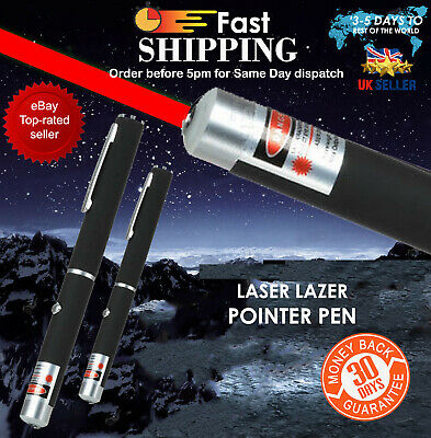 1mW Laser Red Pen 523nm Pointer Lazer Beam Light High Power Focus Battery UK