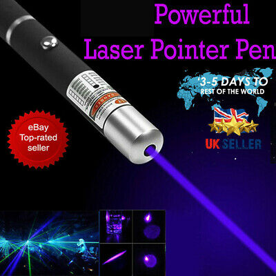 10 Miles 1MW  Blue Purple Laser Lazer Pointer Pen High Power Professional 532nm