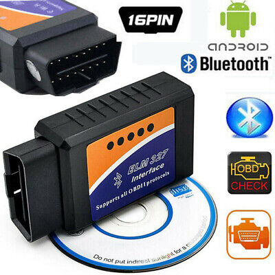 OBD2 ELM327 Bluetooth Car Scanner Android iOS iPhone Torque Auto Scan Tool