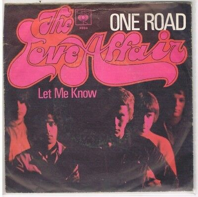 """7"""" - THE LOVE AFFAIR  - ONE ROAD - german PS"""