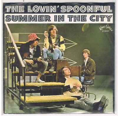 """7"""" - LOVIN` SPOONFUL - SUMMER IN THE CITY  - german PS"""