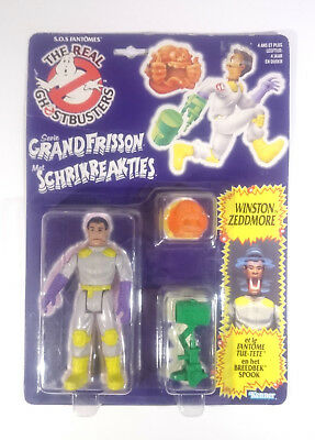 Real Ghostbusters - Winston Zeddmore - Fright Feature - NL/FR Card MOC - Kenner