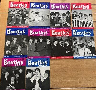 Beatles Monthly Magazine Lot Of 10 Copies Numbers 2-11 All Vgc More Beatles!!!