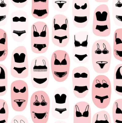 OOH La La Lingerie paired Undies Pink 100/% quilting cotton fabric by the yard