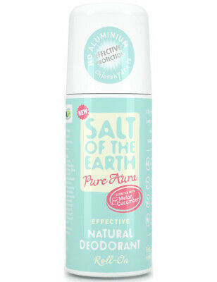 Salt of the Earth Pure Aura Natural Deodorant Roll-On Melon & Cucumber  75ml